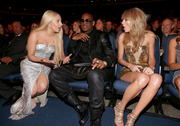 Lady Gaga. Rkelly and Taylor Swift at the 2013 AMA