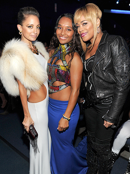 Nicole and TLC's T-Boz and Chili at the 2013 AMA