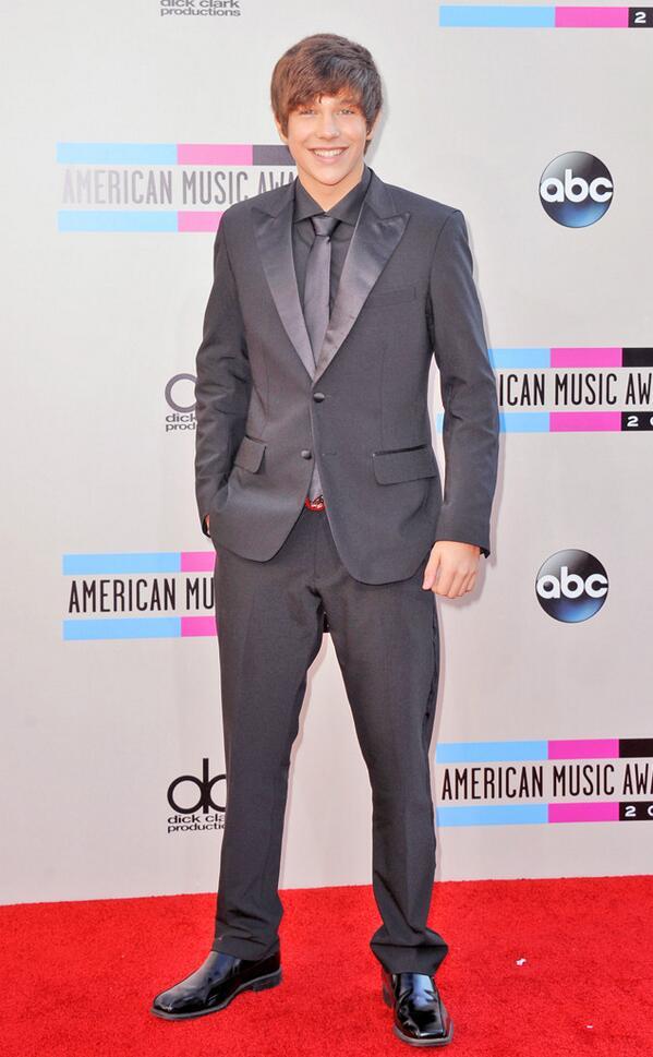 Austin Mahone at the 2013 AMA Red Carpet