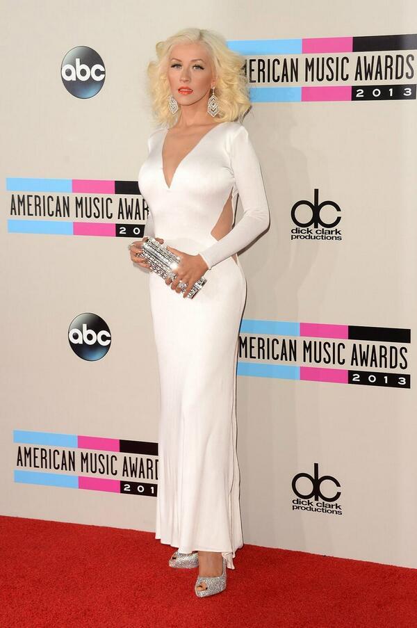 Christina Aguilera at the 2013 AMA Red Carpet