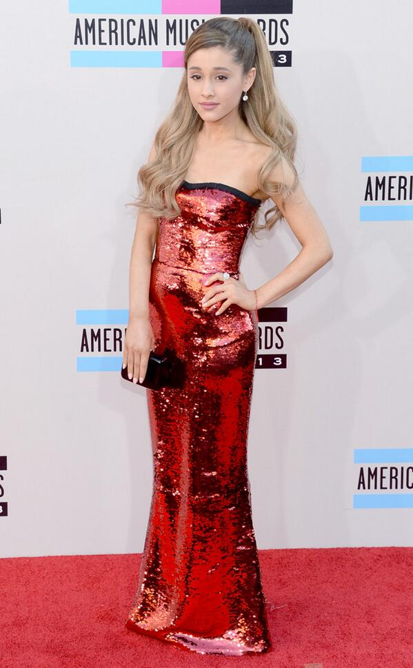Ariana Grande at the 2013 AMA Red Carpet