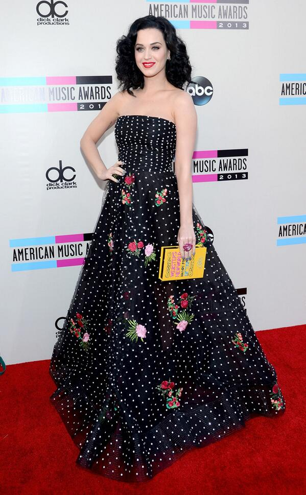 Katy Perry at the 2013 AMA Red Carpet