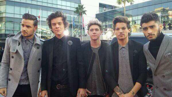 One Direction at the 2013 AMA Red Carpet