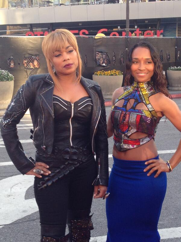 Chilli and Tboz of TLC at the 2013 AMA