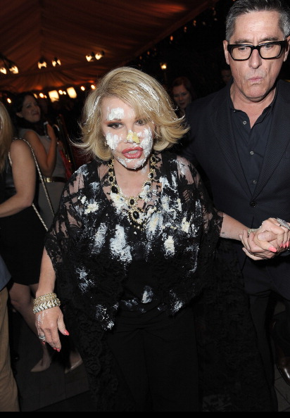 Joan Rivers Gets Caked At QVC Red Carpet Event